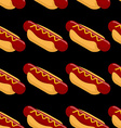 Hot dog isometric seamless patern Fast food 3D on vector image vector image