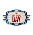 independence day realistic festive tag vector image vector image