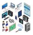 Isometric Development Icons vector image vector image