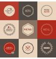 Labels set for restaurant menu design vector image