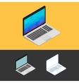 Laptop isometric icon vector image vector image