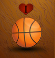 love and basketball background vector image