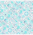 machine learning seamless pattern vector image vector image