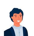 man woman portrait closeup isolated smiling person vector image vector image