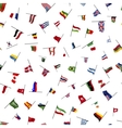 Many flags on a pole seamless pattern vector image vector image
