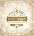 merry christmas holidays wish greeting card vector image vector image