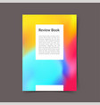 modern bright color harmony office folder layout vector image
