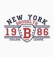 new york horizontal print vector image