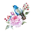 Nice watercolor birds vector image vector image