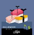 nighiri halloween menu vector image vector image