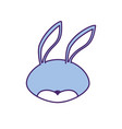 rabbit head wild cute animal vector image