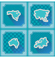 seamless background with continents vector image vector image