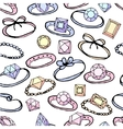 Seamless pattern with stylized rings for girl and vector image vector image