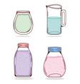 set of detox juices vector image