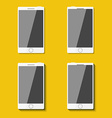 Set of phones in flat style with shadows vector image vector image