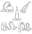 set of vacuum cleaner vector image