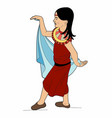 small oriental dancer vector image vector image