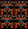 striped baroque embroidery seamless pattern vector image