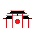 symbols japanese pagoda travel icon vector image