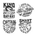 t-shirt prints sea surfing and safari hunt club vector image vector image