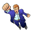 team leader in a blue business suit pulls his hand vector image vector image