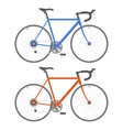Two Color Bicycle on White Background vector image vector image