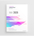 vibrant abstract shape company business brochure vector image