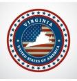 Vintage label Virginia vector image vector image