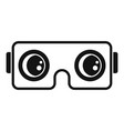 vr game goggles icon simple style vector image vector image