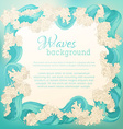 waves square frame vector image vector image