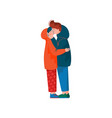 young man and woman embracing and kissing happy vector image vector image
