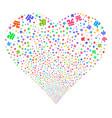 yuan renminbi fireworks heart vector image vector image