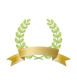 Branch with ribbon vector image
