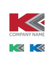 etter K logo icon design template elements vector image