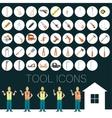 Repair tool icons vector image