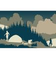 Wilderness camp vector image