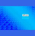 abstract blue geometric triangle background with vector image