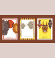 africa set cards banners posters vector image vector image