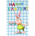 An easter greeting with a bunny vector image vector image