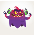 angry cartoon monster halloween vector image