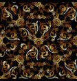 baroque gold floral embroidery seamless pattern vector image vector image
