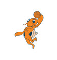 basketball hermit crab vector image vector image