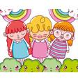 beautiful girls cartoons vector image