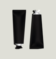 Black aluminum tubes for packaging vector image vector image