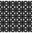 black and white geometric seamless pattern vector image