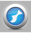blue metal button with gnawed chicken leg vector image