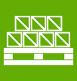 boxes goods icon green vector image