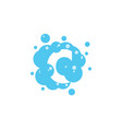 bubble with initial letter c graphic design vector image vector image