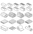 Building construction materials 3D isometric vector image vector image