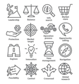 Business management icons in line style Pack 13 vector image vector image